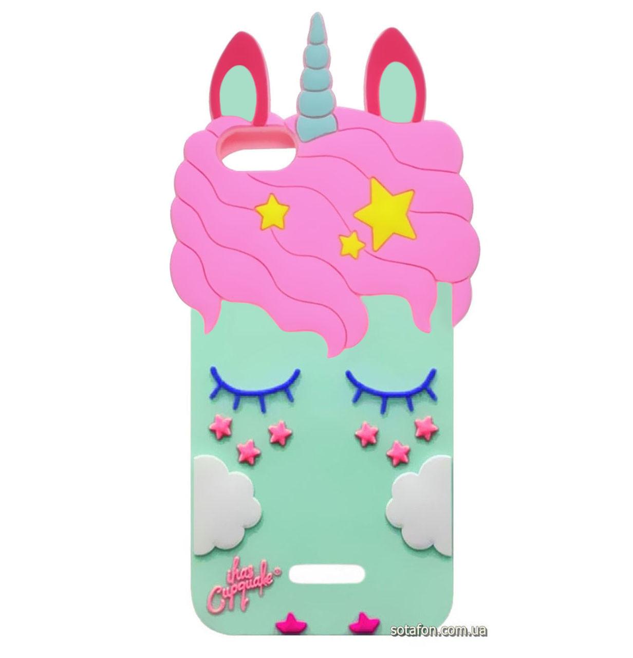 Чехол-накладка TPU 3D Little Unicorn для Xiaomi Redmi 6A Mint