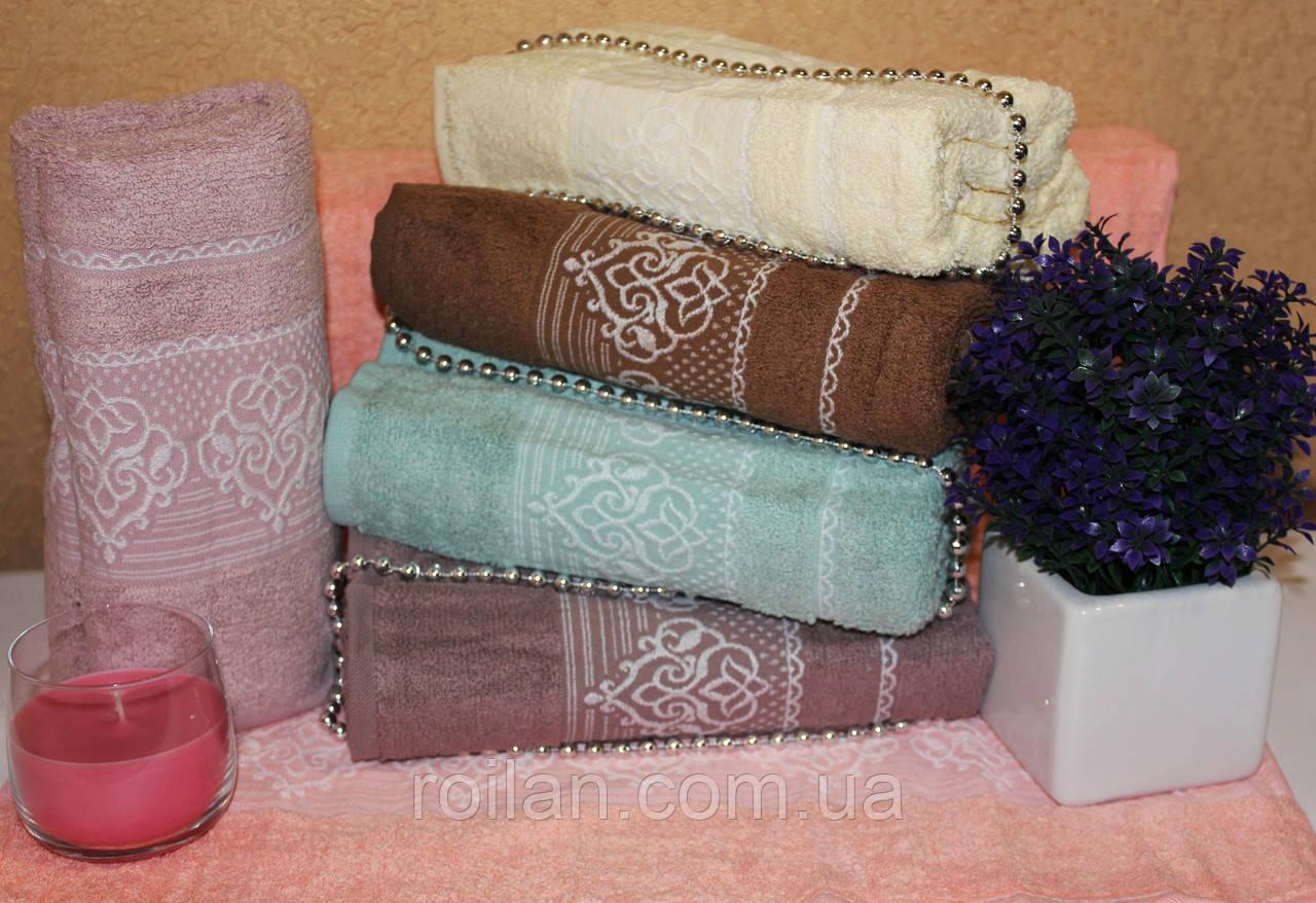 Метровые турецкие полотенца Gulcan Вензель