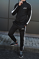 Мужской спортивный костюм Asics с лампасами (Асикс)