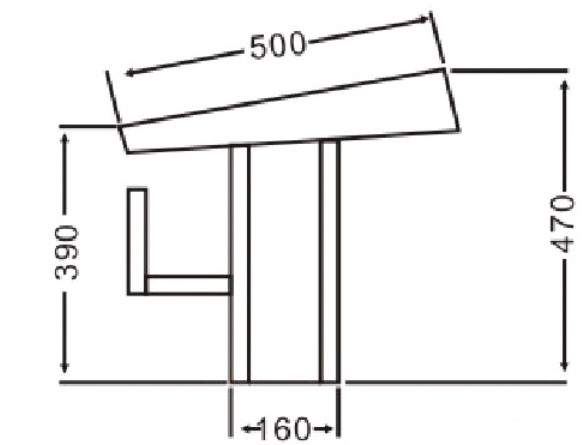 Габаритные размеры стартовой тумбы Bridge A010