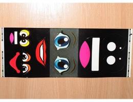 """Наклейки """"Глазки и ротики"""" для фигур из воздушных шариков (4 типа)"""