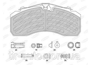 Комплект тормозных колодок, дисковый тормоз, WVA29253 PROTEC-S MAN MB SCANIA IVECO BOVA SETRA (BERAL)