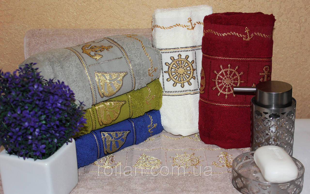 Банные турецкие полотенца Gulcan Золотой кораблик