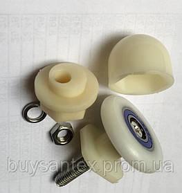Ролик для двери душевой кабины упаковка 50 шт. ( Х-06 А ) пластиковый с съемным колесом