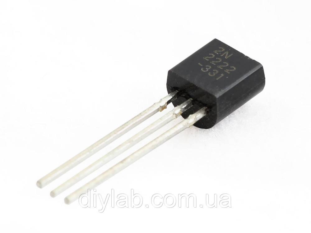 Транзистор 2N2222A NPN 40В 0.6А TO-92