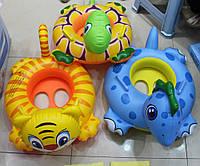 Лодочка с ножками BT-IG-0015 животные, Детская лодочка для маленьких деток, Надувной круг для плавания