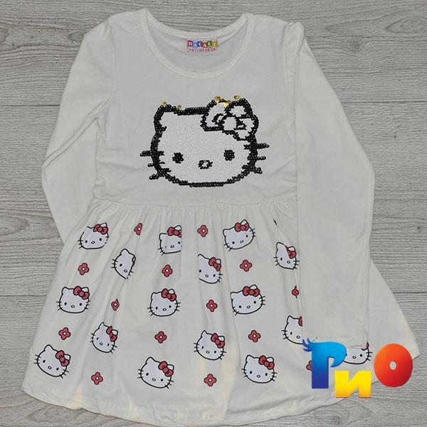 Детское платье из трикотажа, для девочек 7-8 лет (1 ед в уп)