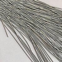 Канитель мягкая гладкая 1 мм. Цвет: серый матовый. 10 гр