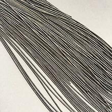 Канитель гладкая мягкая 1 мм. Цвет: графит матовый. 10 гр