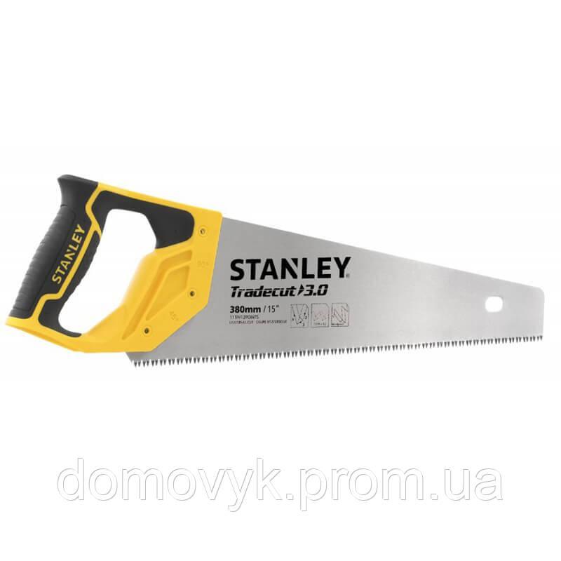 Ножовка по древесине с закаленными зубьями длиной 380 мм для ″чистого″ реза (11 tpi) STANLEY STHT20349-1