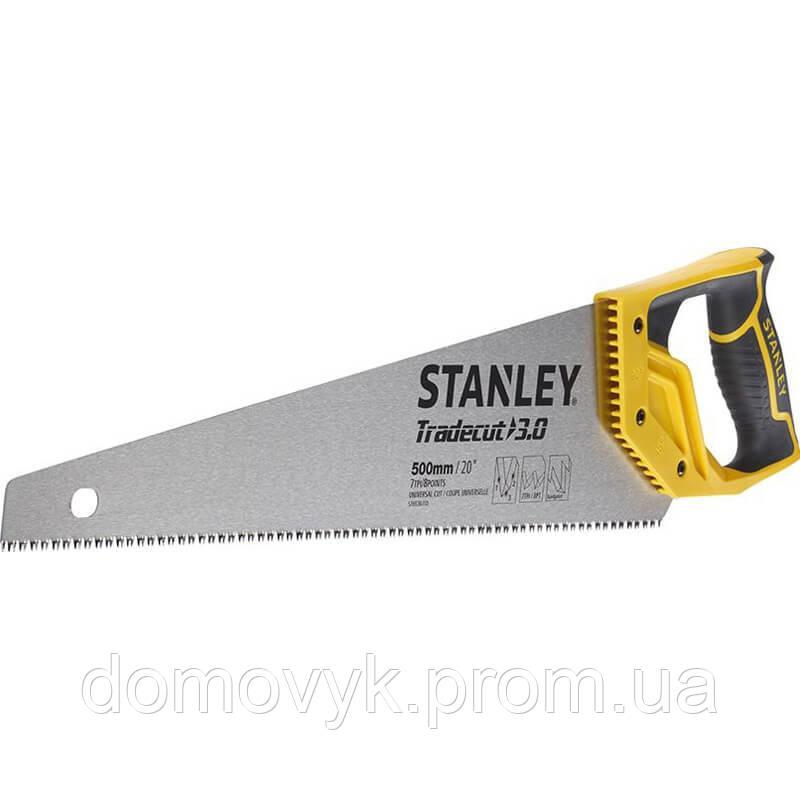 Ножовка по древесине с закаленными зубьями длиной 500 мм для ″чистого″ реза (11 tpi) STANLEY STHT20351-1