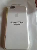 Накладка Silicone Case orig (чехол-бампер) iPhone 6 Plus/ 6S Plus (белый)