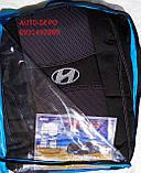 Чехлы на сиденья Хундай Матрикс, Автомобильные чехлы для Hyundai Matrix 2001-2010 Nika полный комплект, фото 4
