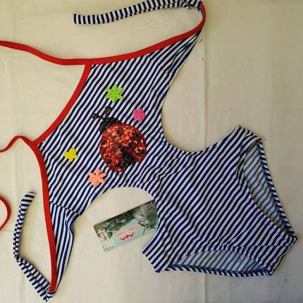 Купальник для девочек SAME GAME Коровка 584 синий (есть 28 30 32 34 36 размеры), фото 2