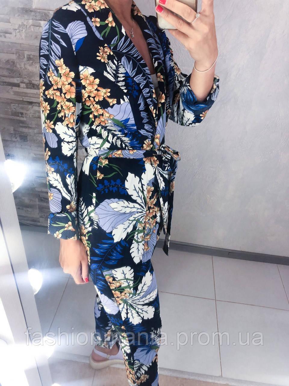 Стильный костюм с цветочным рисунком , фото 1