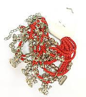 Красная нить с подвесом Лягушка