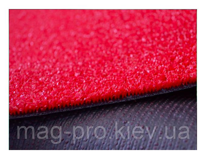 Искусственная трава красная 7 мм