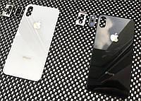 Задняя крышка для Iphone X черный  (со стеклом камеры)