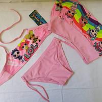 Купальник для девочек   Z.FIVE 9106  Лютик розовый (есть 28,30,32,34,36 размеры)