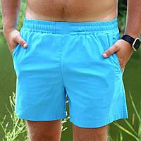 Мужские шорты пляжные Asos голубые для купания плавания без принта / рисунка быстросохнущие