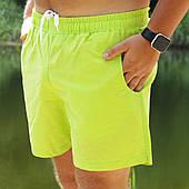 Мужские шорты пляжные Asos салатовые для купания плавания без рисунка быстросохнущие