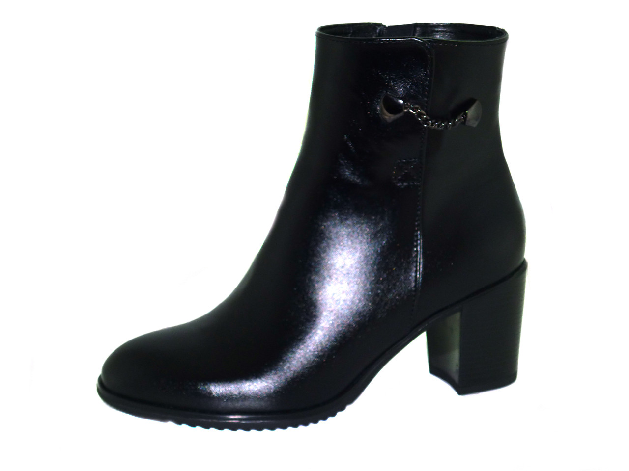 Ботинки женские черные натуральные кожа Passo Avanti (9314 - 1)