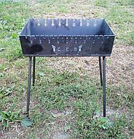 Раскладной мангал чемодан на 10 шампуров 2мм, Сев, фото 1