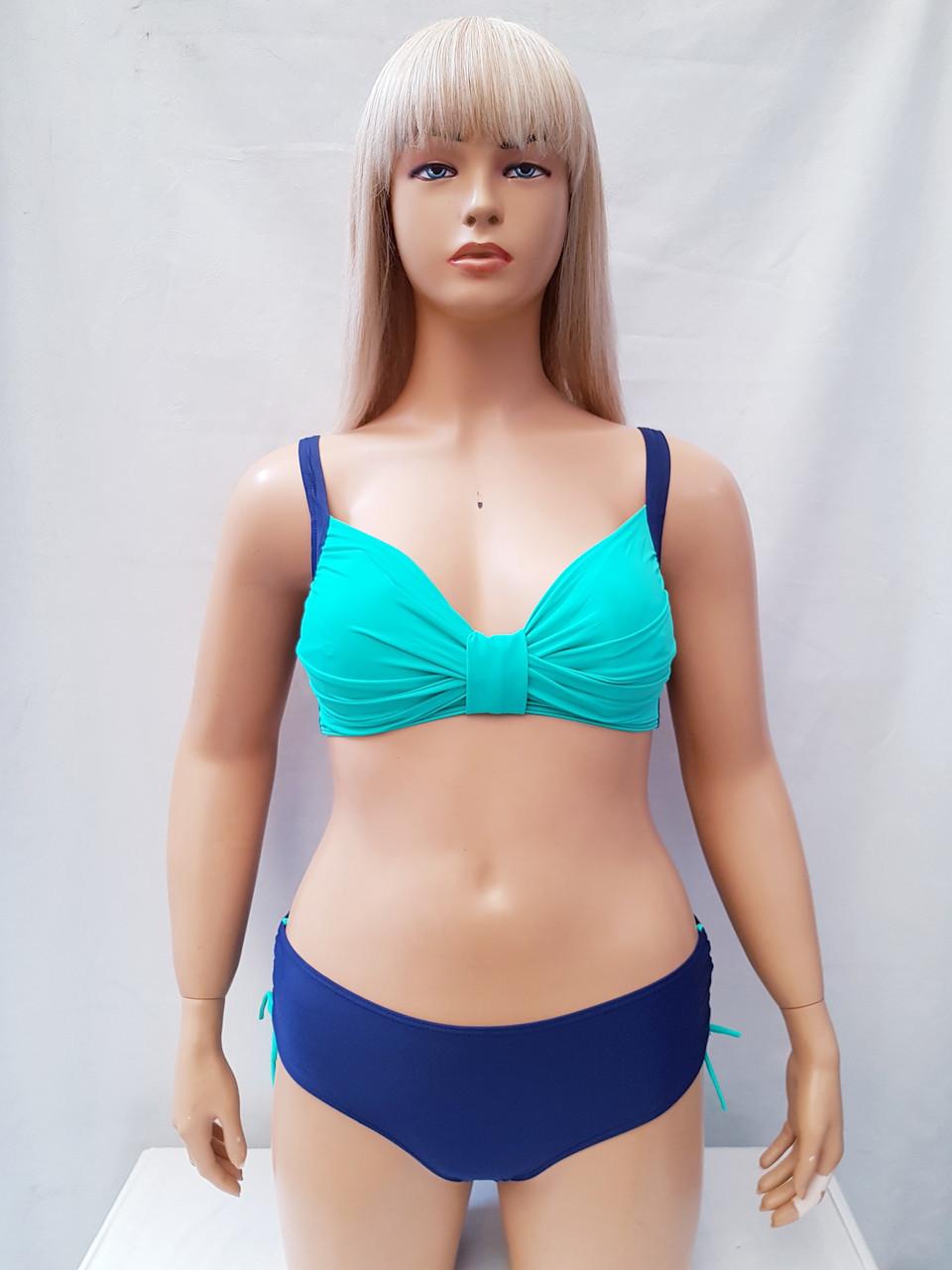 Купальник Polovi 2019 год Ванда 38350 мята синие плавки  (есть 48 50 52 54 56 58 размеры)   58
