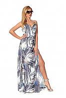 ✔️ Длинное платье на бретелях 42-52 размера белое, фото 1
