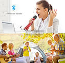 Безпровідний мікрофон караоке MicMagic L-698 FM87.5/108! ПОТУЖНІСТЬ 15 Вт Red, фото 6