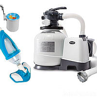 Оборудование для бассейна «Эксклюзив База» Intex 26648-4 (10 000 л/ч, пылесос, скиммер, шланг)