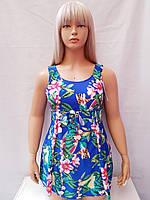 Купальник платье слитный Besea Fairy 67133 Грейс электрик (есть 50 52 размеры)