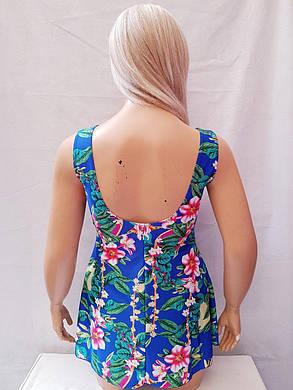 Купальник платье слитный Besea Fairy 67133 Грейс электрик (есть 50 52   размеры), фото 2