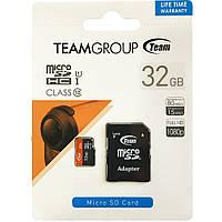 Карта памяти TEAM 32 GB microSDHC UHS-I + SD Adapter