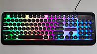 Игровая клавиатура с подсветкой радуга проводная M300 The Rertro Punk Keybord, фото 1