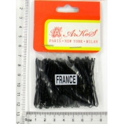 Шпилька для волос чёрная 5 см, в упаковке 50 шт.