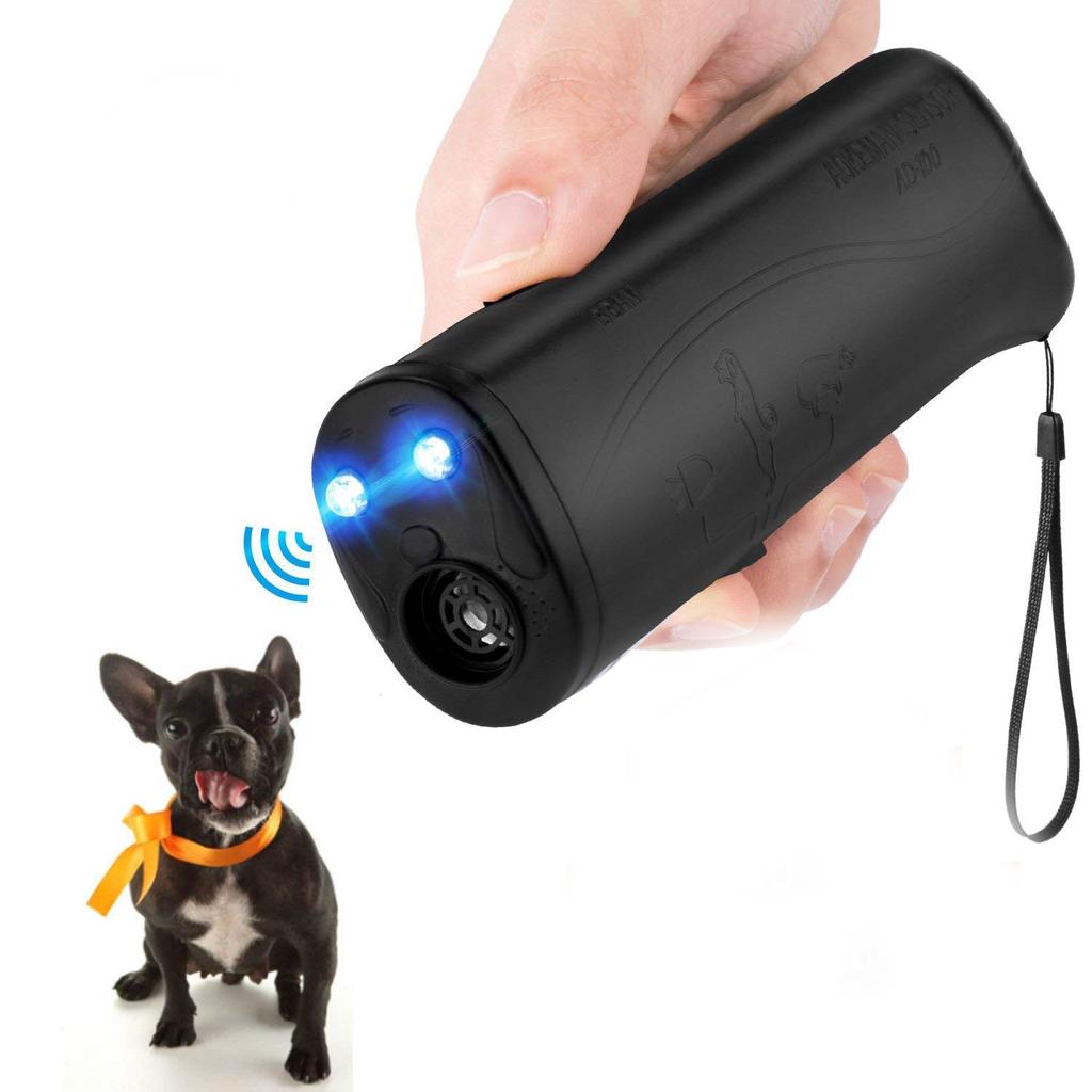 Ультразвуковой портативный отпугиватель собак с фонариком (AD-100)
