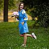 Жіноча сукня вишиванка блакитна з мереживом, фото 6