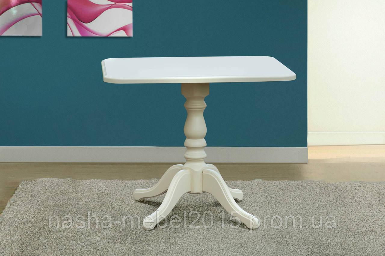 Стол обеденный деревянный Моно белый/ваниль