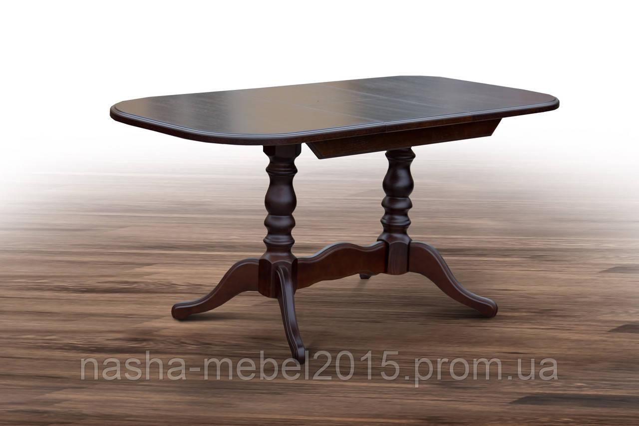 Стол обеденный деревянный раскладной Шервуд темный орех