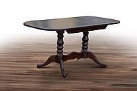 Стол обеденный деревянный раскладной Шервуд темный орех, фото 1