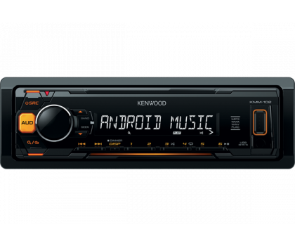 Автомагнитола Kenwood KMM-102AY Orange
