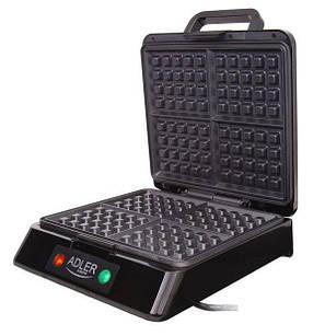 Аппарат для приготовления бельгийских вафель ADLER AD3036 INOX