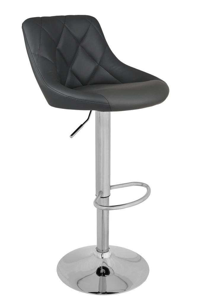 Барный стул оборотный UTC-859 Пепельный