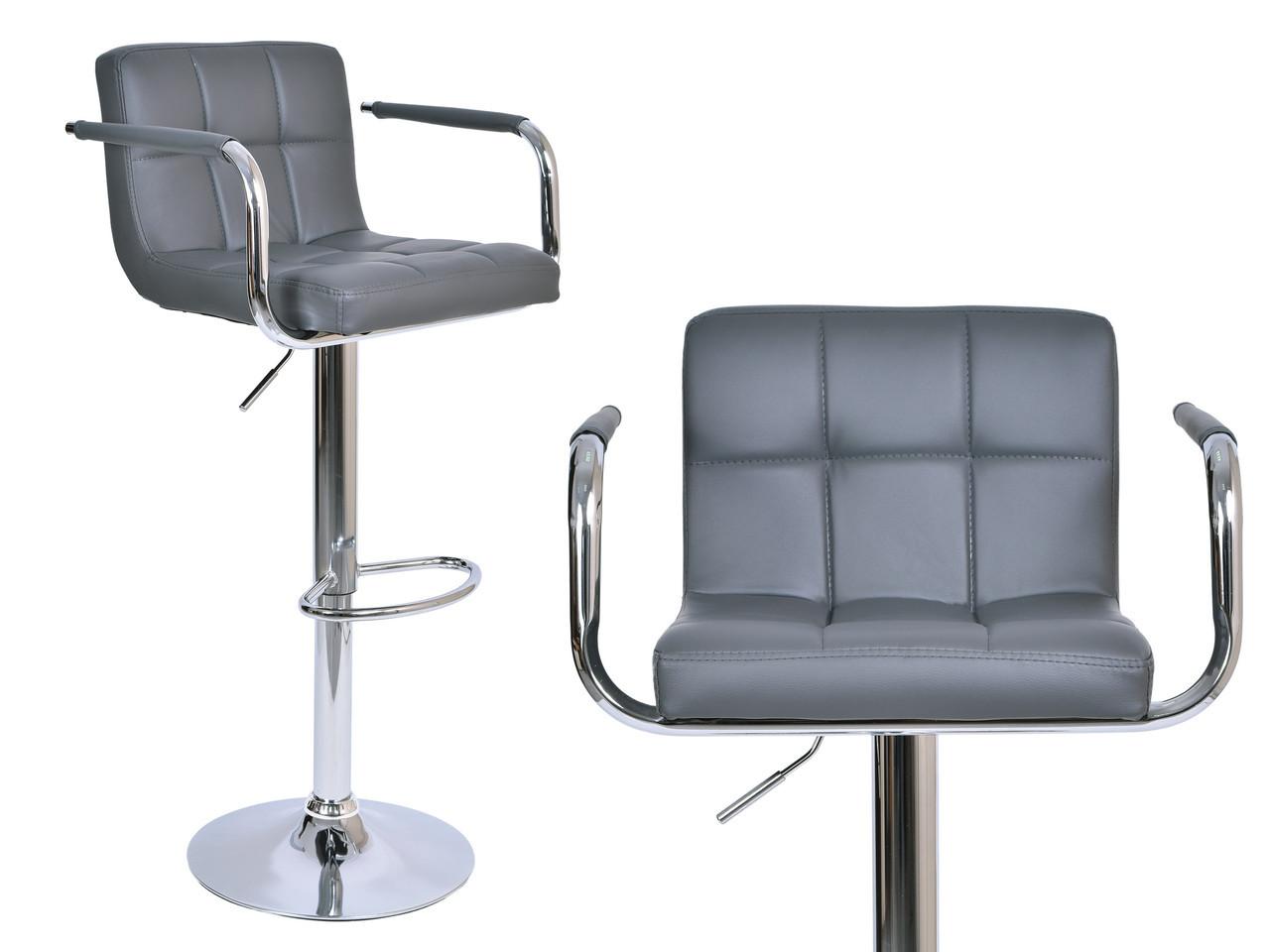 Барный стул с подлокотниками Monte серый