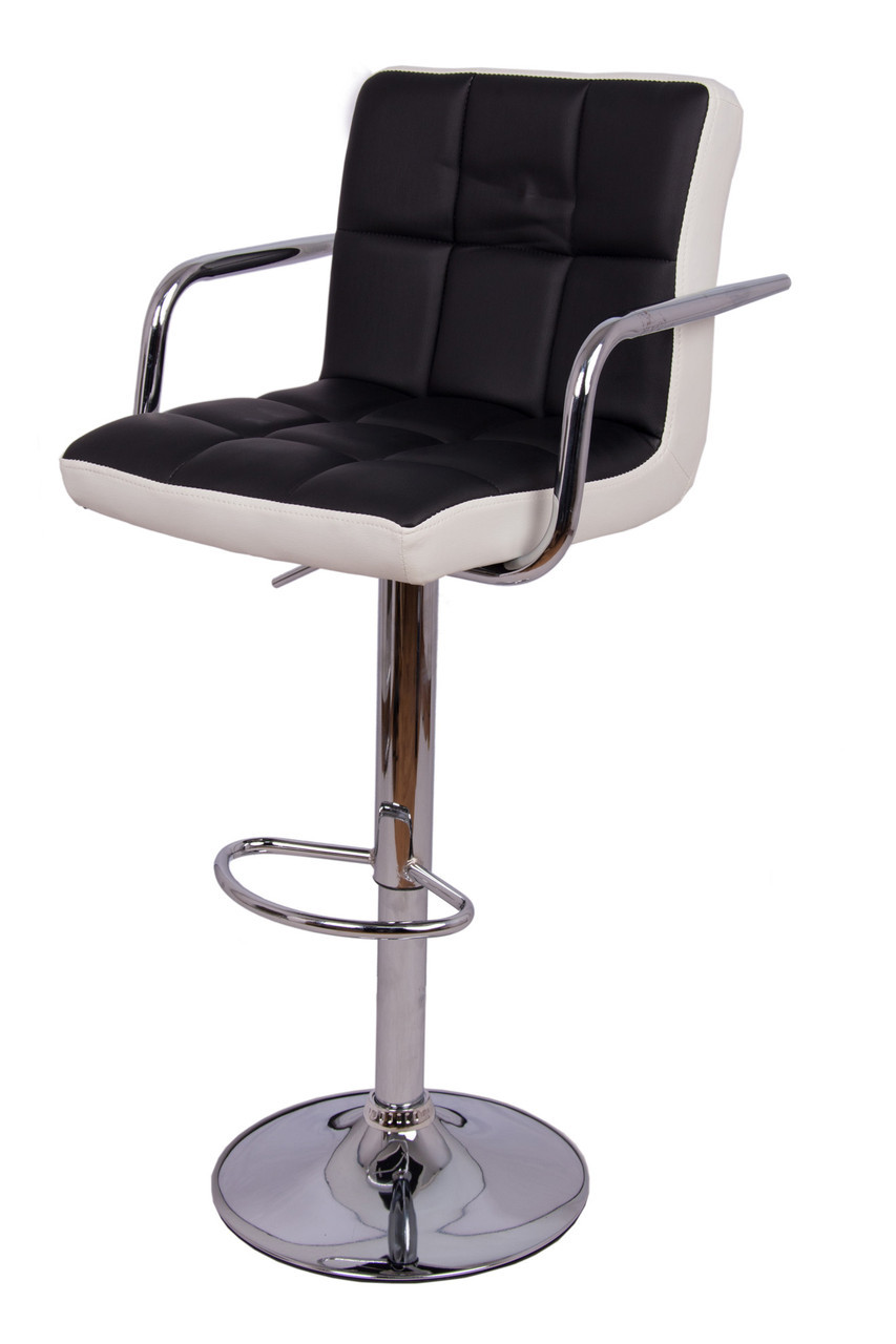 Барный стул с подлокотниками двухцветный