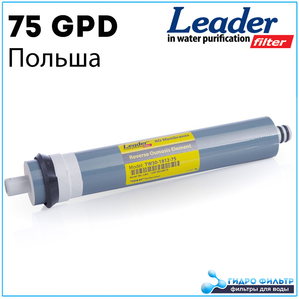 Мембрана обратного осмоса Leader TW30-1812-75