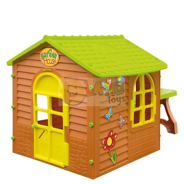 Большой игровой садовый домик +столик +стульчик