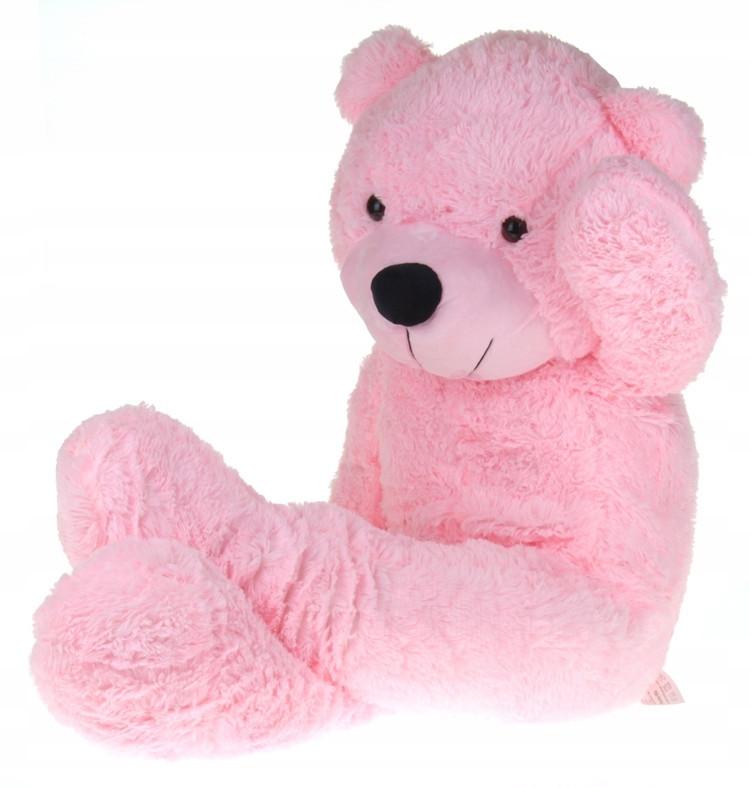 Большой плюшевый медведь 130 см Розовый
