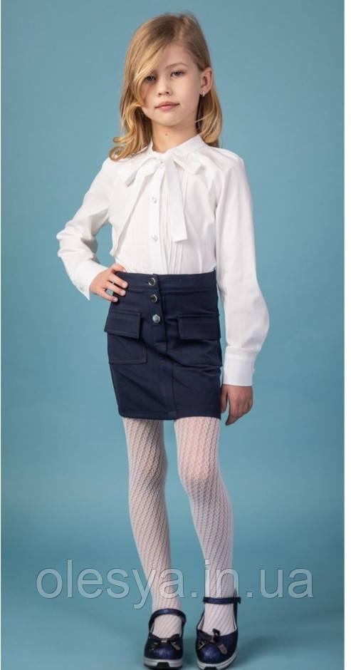 Юбка школьная для девочек Лиза тм Brilliant Размеры 122- 146
